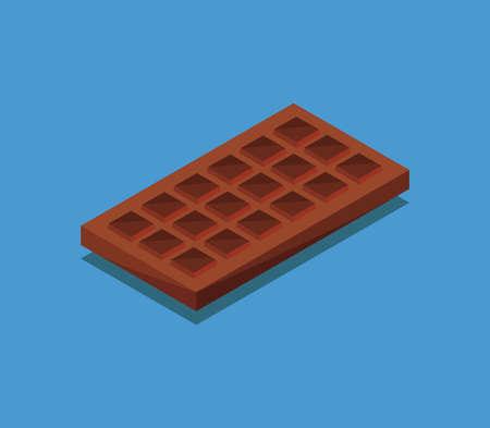isometric chocolate Vettoriali
