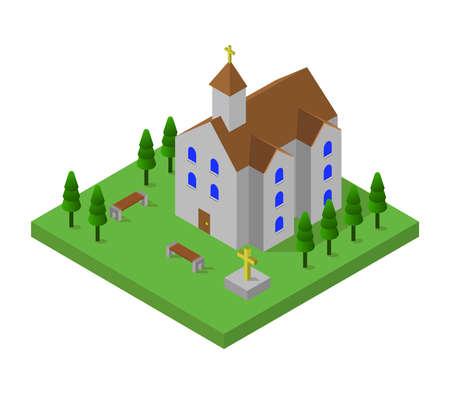 isometric church