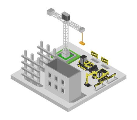 build isometric building