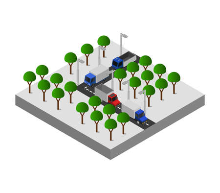 isometric road junction