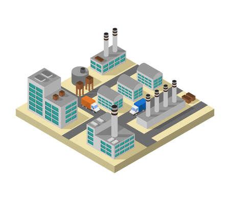 isometric industry Иллюстрация
