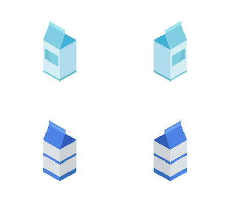 isometric milk illustration