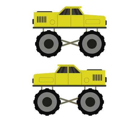 monster truck illustration Stock Illustratie