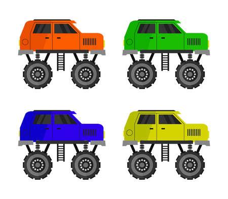 monster car illustration
