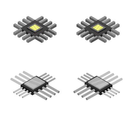 isometric ram Vettoriali