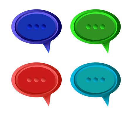 cloud dialogue Stock Illustratie