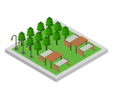 isometric park
