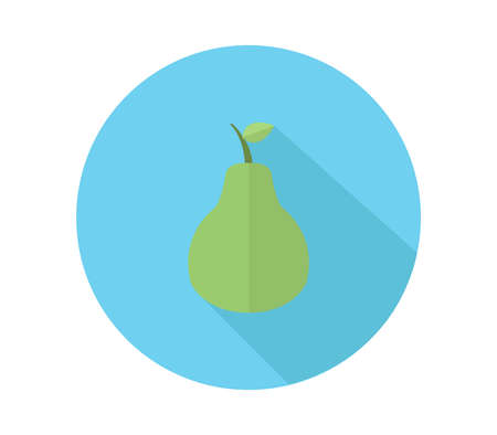 Green pear illustration