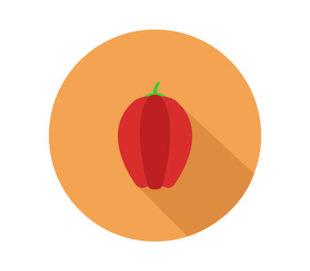 Red sweet pepper illustration 矢量图像