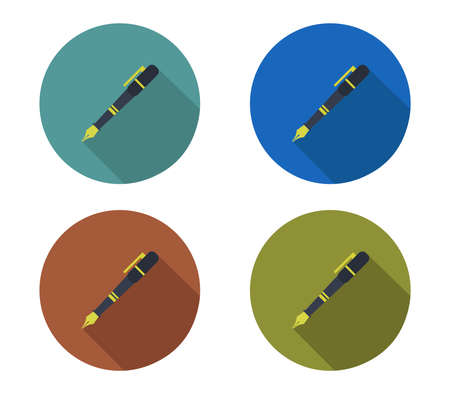 pen icon set  illustration
