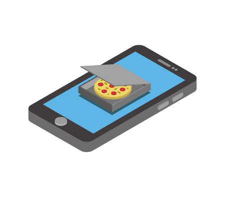 buy pizza online illustration