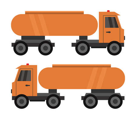 Orange tank truck illustration