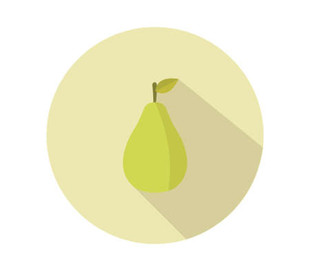 Green pear illustration 免版税图像 - 154247120
