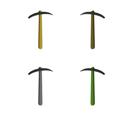 pickaxe set  illustration