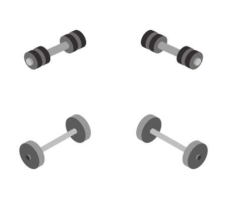 gym weight dumbbell illustration