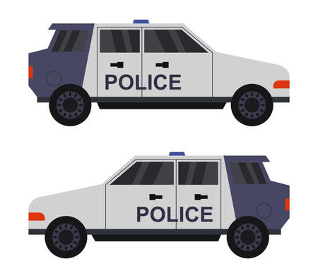 police car illustration 矢量图像
