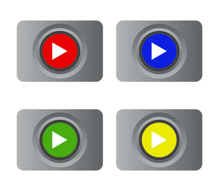 plays button illustration 矢量图像