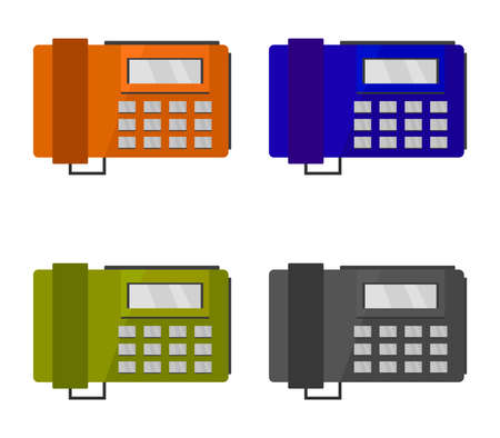 office phones  illustration 矢量图像