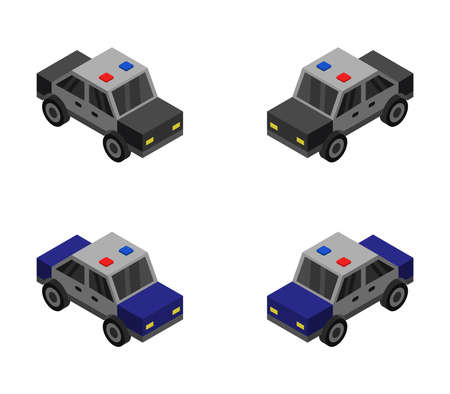 police cars illustration