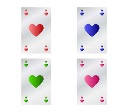 poker cards illustration 矢量图像