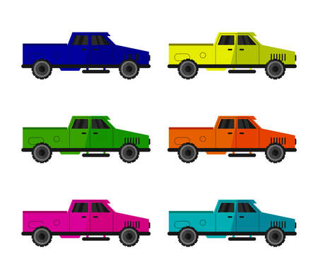 Colorful van illustration
