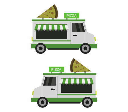 pizza truck illustration
