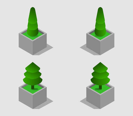 isometric plant illustration 矢量图像