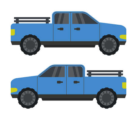 blue van illustration