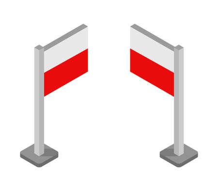 poland flag illustration Иллюстрация