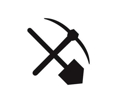 pickaxe and shovel illustration Иллюстрация