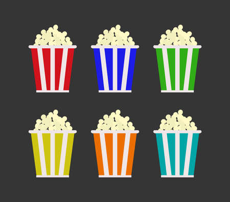 popcorn graphic illustration Иллюстрация