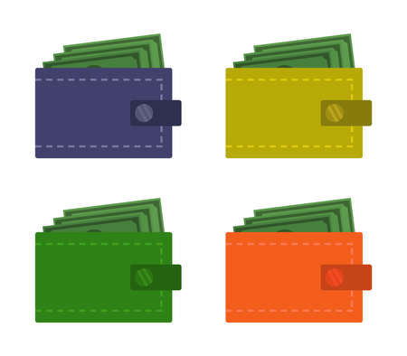 wallet graphic illustration