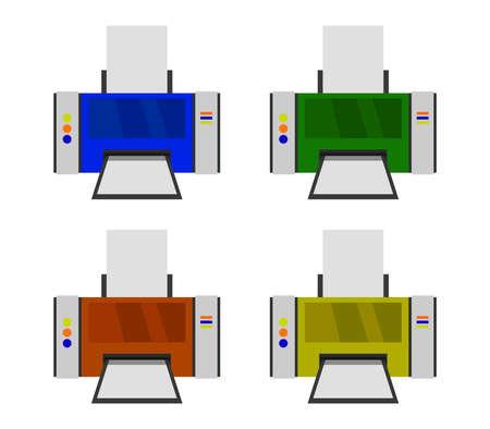 printer graphic illustration Иллюстрация
