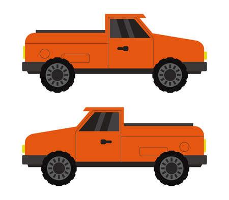 red van graphic illustration