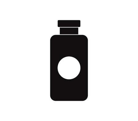 medical bottle graphic illustration