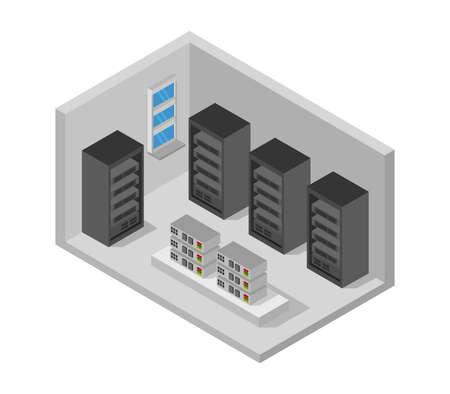 server room isometric