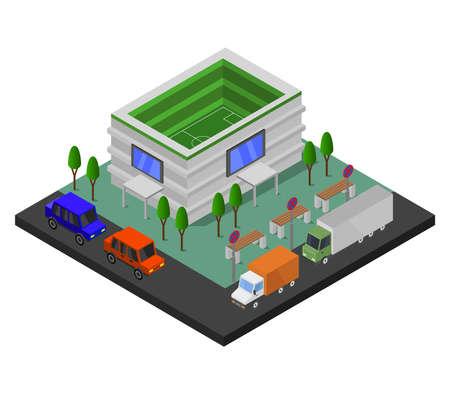 stadium isometric