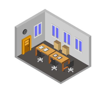 conference room isometric