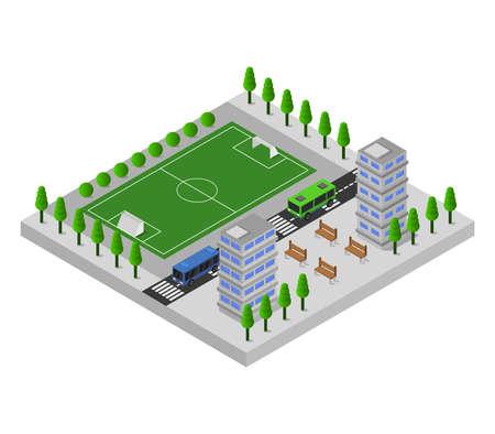 stadium isometric illustration