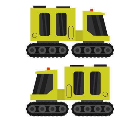 yellow snowcat graphic illustration