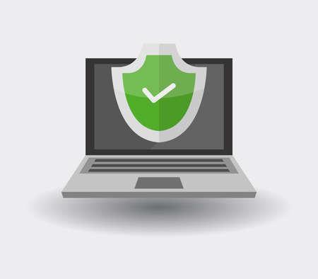 secure computer Vettoriali