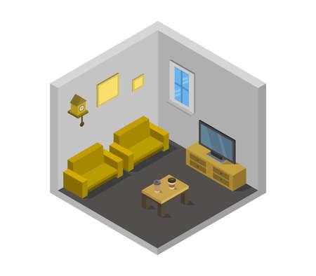 isometric television room