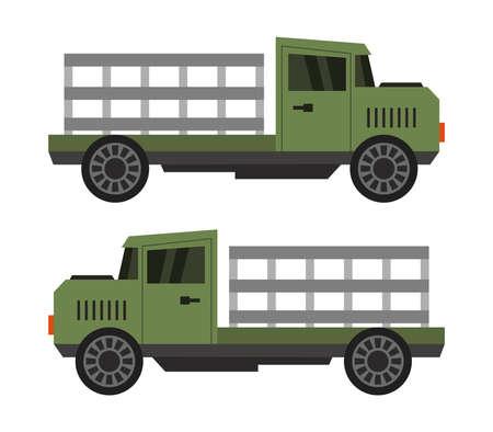 Green truck illustration