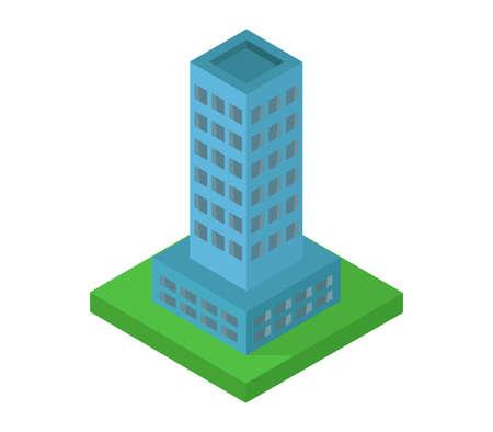 isometric skyscraper