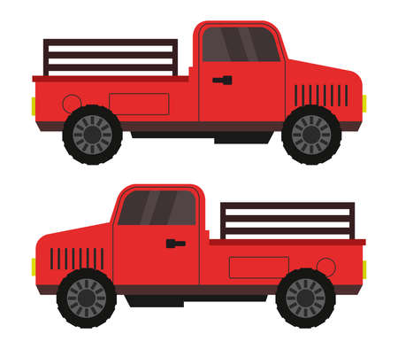 Red truck illustration