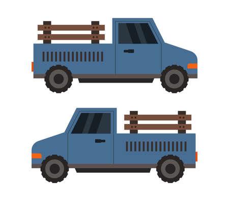 Blue truck illustration