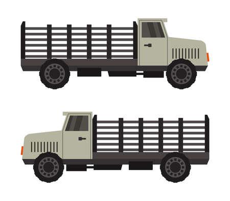 Grey truck illustration