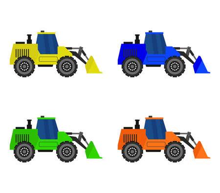 excavator tractor  illustration