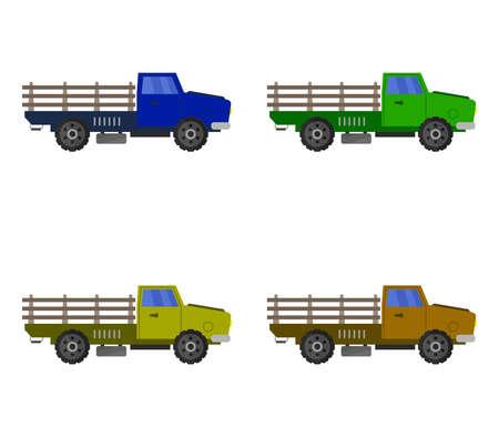trucks graphic  illustration Иллюстрация