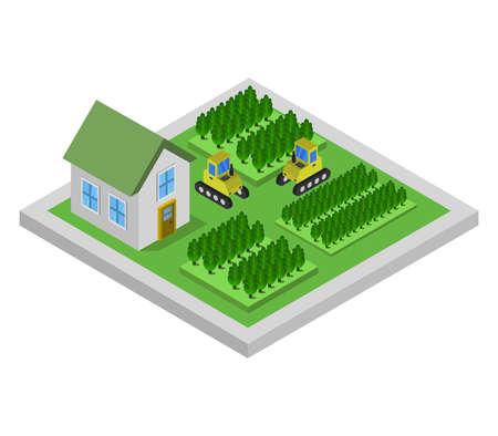 isometric farm illustration